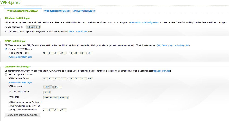 QNAPclub Skandinavien • View topic - QNAP och VPN-tjänster